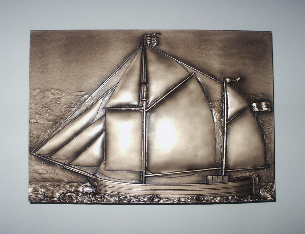Relief - Segelschiff